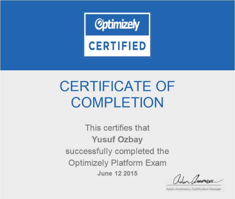 optimizely-sertifikasi-yusuf-ozbay