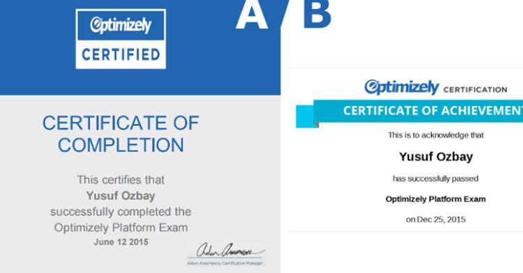 Optimizely Sertifikasına A/B Test Nasıl Uygulanır?